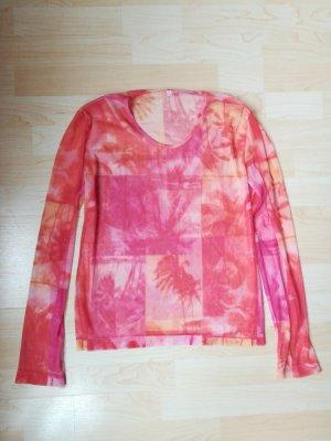 Netshirt oranje-roze