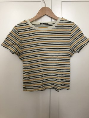 Zara Top cut out multicolor Algodón