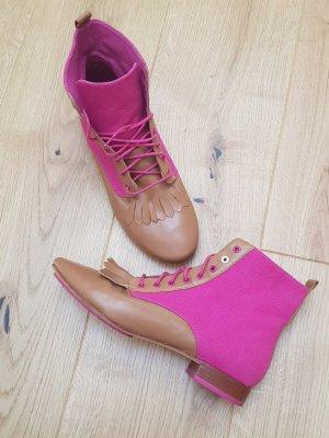 Flip*flop Lace-up Booties camel-pink