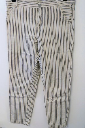 Maison Scotch Pantalón de cinco bolsillos blanco puro-azul oscuro Algodón