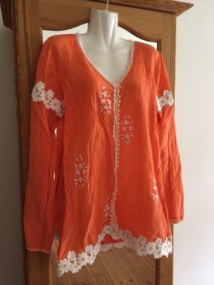 Joyce & Girls Blusa kimono arancione