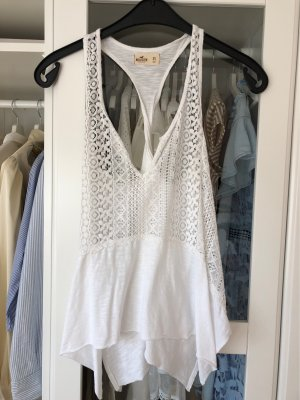 Hollister Rugloze top wit-wolwit