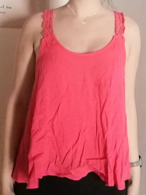Forever 21 Blusa sin espalda rojo claro-rojo frambuesa