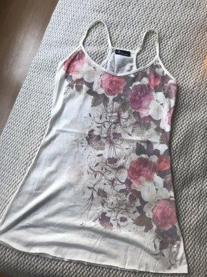 Débardeur or rose-blanc