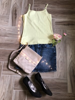 Street One Top con bretelline verde pallido Cotone