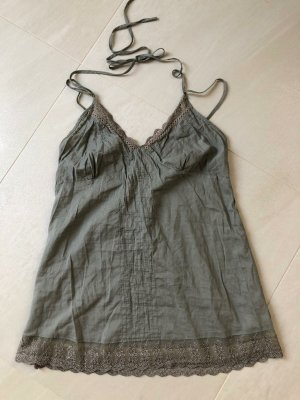 New Look Top bandeau verde grisáceo