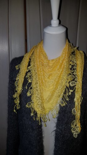 Shoulder Scarf yellow mixture fibre