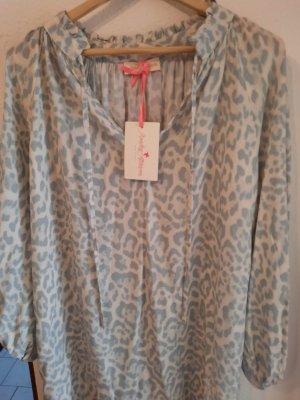 Monday Sukienka tunika jasnoszary-jasnobeżowy