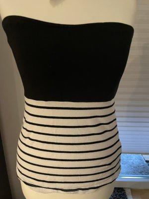 Esmara Bandeau top zwart-wit