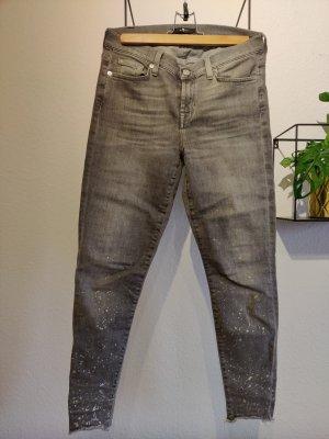 7 For All Mankind Dopasowane jeansy srebrny-szary
