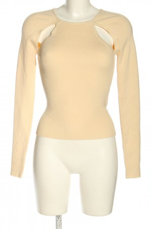Song of style Rundhalspullover creme Casual-Look