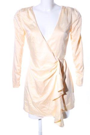 Robe portefeuille blanc cassé style décontracté