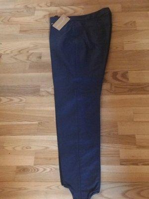 Sônia Bogner Pantalone sfoderato blu acciaio Cotone