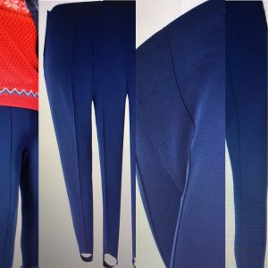 Sônia Bogner Strapped Trousers steel blue cotton