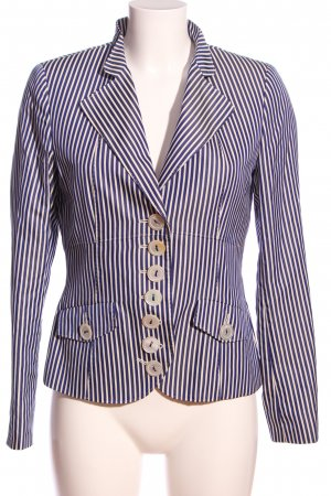 Sônia Bogner Strickblazer blau-weiß Allover-Druck Business-Look