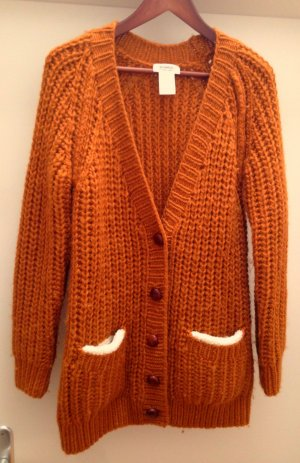 Sonia Rykiel Coarse Knitted Jacket gold orange wool