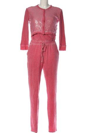 Sonia Fortuna Gebreide twin set roze glitter-achtig