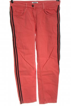 Sonia Rykiel Jeans a 7/8 rosso-nero stile casual