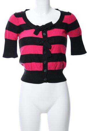 Sonia Rykiel for H&M Cardigan schwarz-pink Streifenmuster Casual-Look