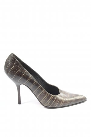 Sonia Rykiel Classic Court Shoe brown allover print elegant