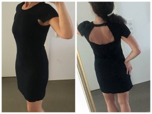 Sonia Rykiel Robe de cocktail noir tissu mixte