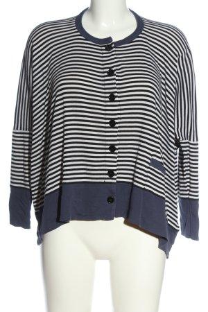 Sonia Rykiel Camicia oversize bianco-blu motivo a righe stile casual