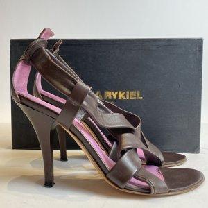 Sonia Rykiel High Heels dark brown leather