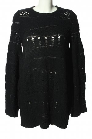 Sonia Rykiel Sweter z dzianiny czarny W stylu casual