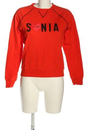 Sonia Rykiel Sweatshirt rood-zwart casual uitstraling