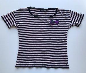 Sonia Rykiel T-shirt rayé noir-rose clair