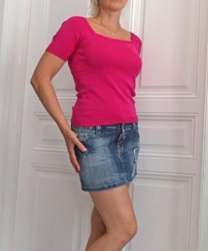 Sonia Rykiel Top cut out magenta-rosa