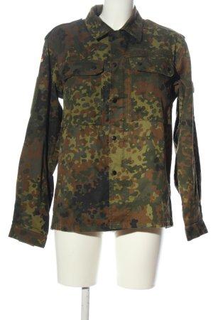 SONIUSH Veste militaire kaki-brun motif de camouflage style décontracté