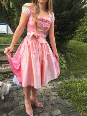 Sonja Fellner Vestido Dirndl rosa Seda