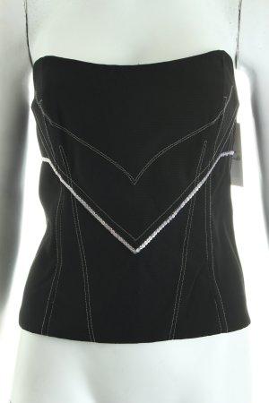Sonja Kiefer Corpiño negro-blanco estilo fiesta