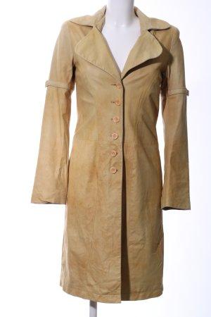 Sonja Kiefer Manteau en cuir blanc cassé style décontracté