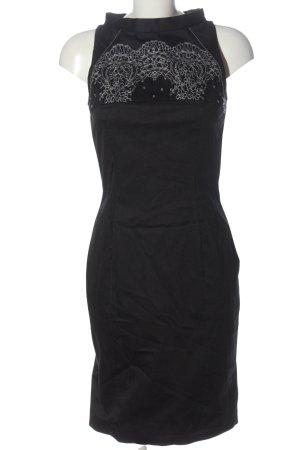 Sonja Kiefer Bleistiftkleid schwarz-weiß abstraktes Muster Elegant