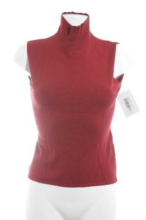 Sonja Marohn Top con colletto arrotolato rosso stile casual