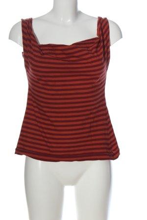 Sonja Marohn Canotta a bretelle rosso motivo a righe stile casual