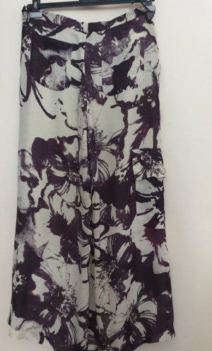 Sonja Marohn Pantalon palazzo beige clair-gris violet lin