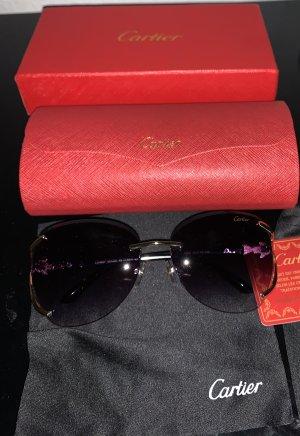 Cartier Okulary chabrowy-stalowy niebieski
