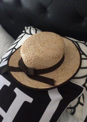 Sombrero de ala ancha crema-beige claro