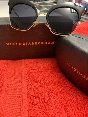 Victoria  Victoria Beckham Okulary motylki czarny-złoto