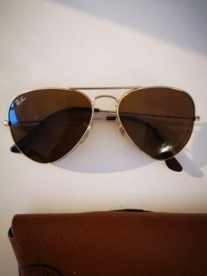 Ray Ban Owalne okulary przeciwsłoneczne złoto-brązowy