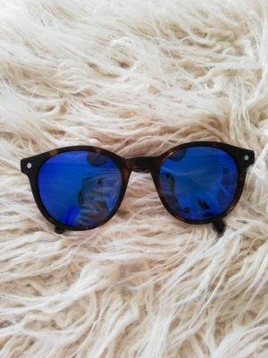 Ronde zonnebril blauw