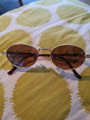 Owalne okulary przeciwsłoneczne złoto-brązowy