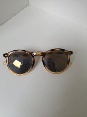DM Okrągłe okulary przeciwsłoneczne czarny-jasnobrązowy