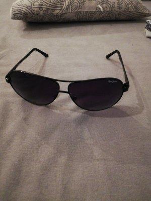 Pepe Jeans Owalne okulary przeciwsłoneczne czarny-ciemnoczerwony