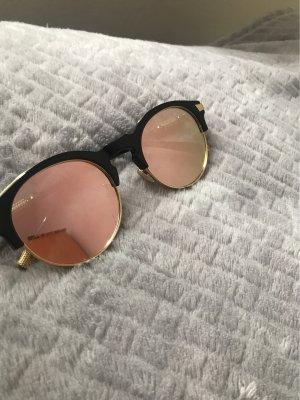 Okulary retro czarny-w kolorze różowego złota