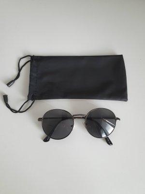keine Marke Okrągłe okulary przeciwsłoneczne czarny