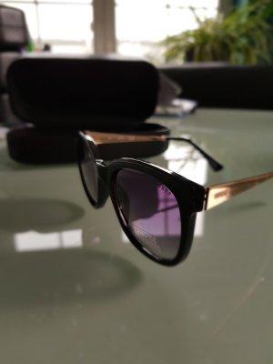 Guess Occhiale da sole spigoloso nero-oro
